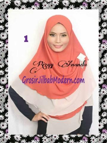 Jilbab Instant Khimar Alena Polos Seri 2 No 1
