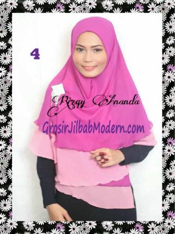 Jilbab Instant Khimar Alena Polos Seri 2 No 4 Ungu-Pink