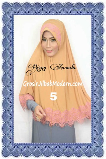 Jilbab Khimar Cantik Latifah Modis dan Syar'i No 5 Kuning Kunyit