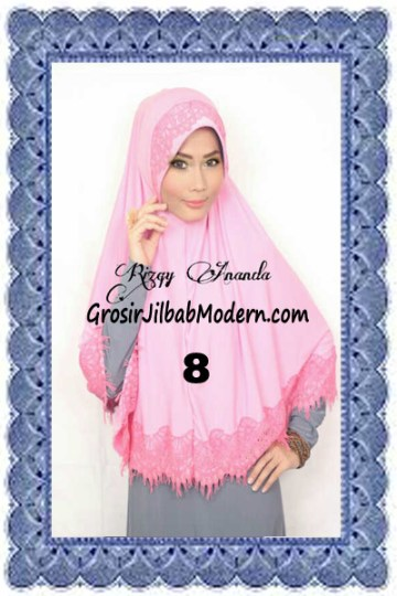 Jilbab Khimar Cantik Latifah Modis dan Syar'i No 8 Pink