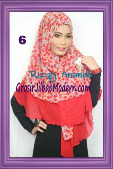 Jilbab Khimar Miriam Motif Bunga  Cantik No 6