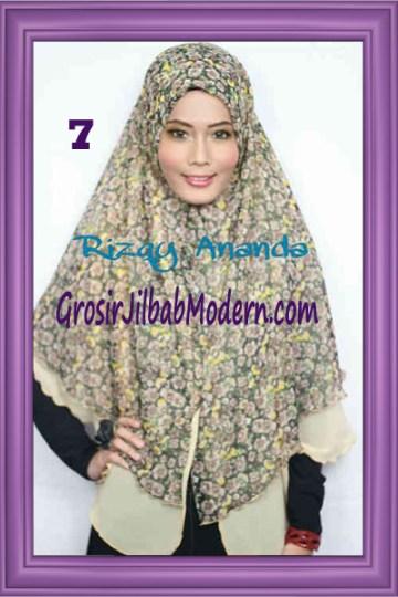Jilbab Khimar Miriam Motif Bunga  Cantik No 7