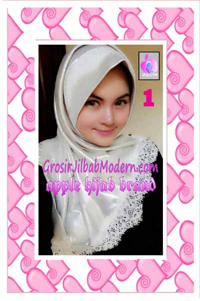 Jilbab Pesta Syria Inara Glowing by Apple Hijab Brand No 1 Broken White
