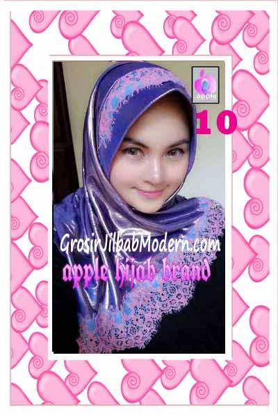 Jilbab Pesta Syria Inara Glowing by Apple Hijab Brand No 10 Ungu