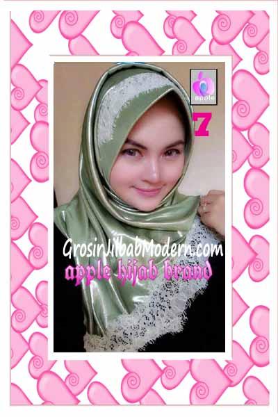 Jilbab Pesta Syria Inara Glowing by Apple Hijab Brand No 7 Hijau Mint