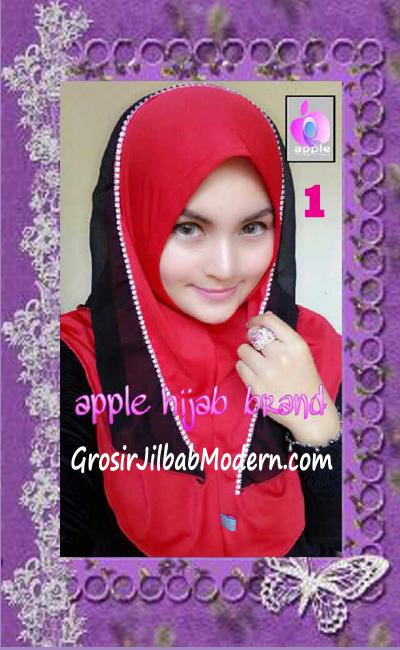 Jilbab Syria Cantik Zhafrina Diamond Original by Apple Hijab Brand No 1 Merah