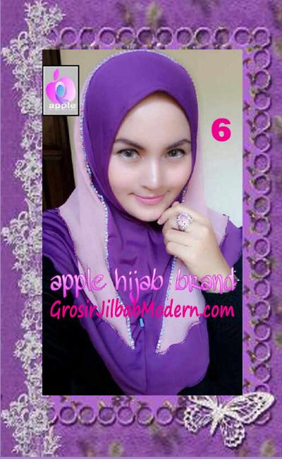 Jilbab Syria Cantik Zhafrina Diamond Original by Apple Hijab Brand No 6 Ungu