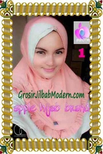 Jilbab Syria Khayra Seri 2 by Apple Hijab Brand No 1 Dusty Salem - Babe Lime