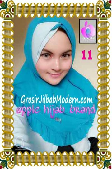 Jilbab Syria Khayra Seri 2 by Apple Hijab Brand No 11 Biru Toska - Biru Muda