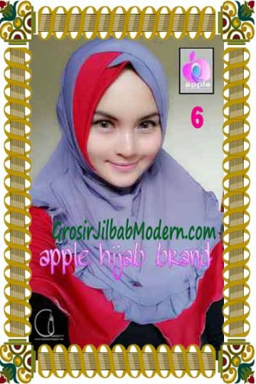 Jilbab Syria Khayra Seri 2 by Apple Hijab Brand No 6 Ungu Kebiruan - Merah