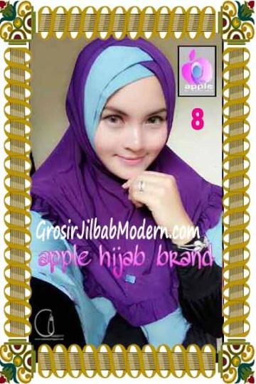 Jilbab Syria Khayra Seri 2 by Apple Hijab Brand No 8 Ungu - Biru