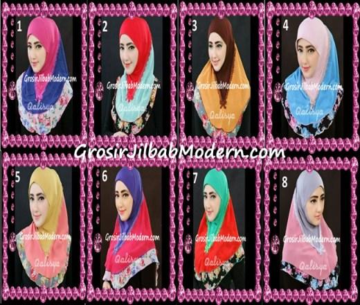 Jilbab Syria Kombinasi Cantik Ahza by Qalisya Series