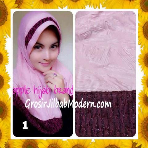 Jilbab Syria Orin Etnik Emboss by Apple Hijab Brand No 1 Baby Pink