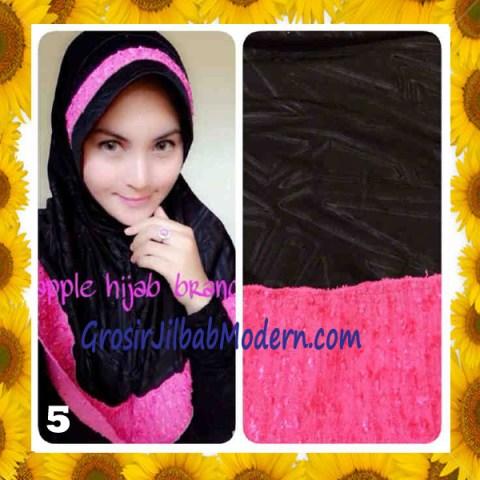 Jilbab Syria Orin Etnik Emboss by Apple Hijab Brand No 5 Hitam