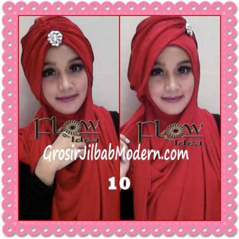 Jilbab Syria Topi Turban Almonda Trendy by FLOW Idea No 10 Merah