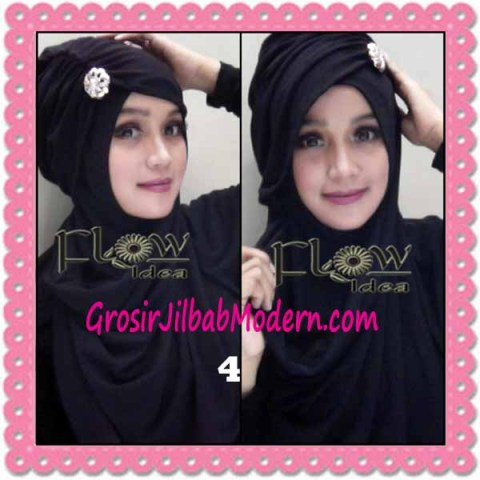 Jilbab Syria Topi Turban Almonda Trendy by FLOW Idea No 4 Hitam