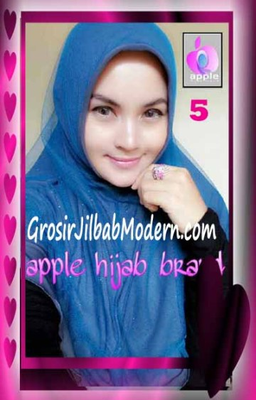 Jilbab Syria Unik Vienna Tutu by Apple Hijab Brand No 5 Abu - Biru