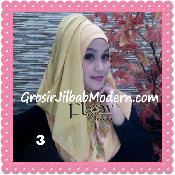 Jilbab Modern Instant Rainy Original by Flow Idea No 3 Kuning Kuning