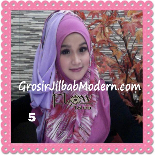 Jilbab Modern Instant Rainy Original by Flow Idea No 5 Fanta Ungu