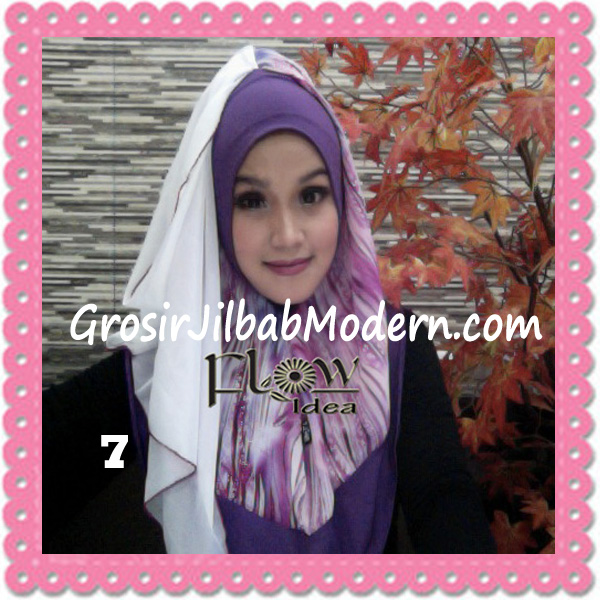 Jilbab Modern Instant Rainy Original by Flow Idea No 7 Ungu Putih
