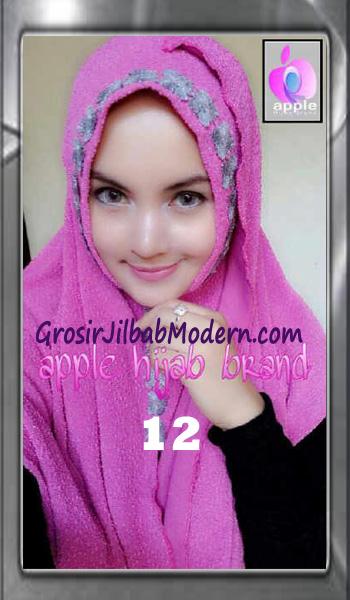 Jilbab Pashmina Instant Esme Praktis by Apple Hijab Brand No 12 Magenta