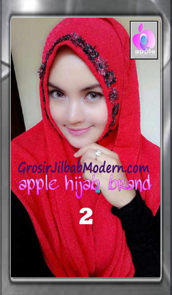 Jilbab Pashmina Instant Esme Praktis by Apple Hijab Brand No 2 Merah