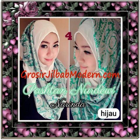 Jilbab Pashmina Instant Nurdewi Original by Narinda No 4 Hijau