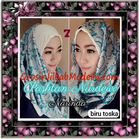 Jilbab Pashmina Instant Nurdewi Original by Narinda No 7 Biru Toska