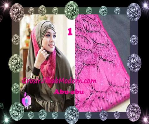 Jilbab Syar'i Exclusive Khadijah by Apple Hijab Brand No 1 Abu