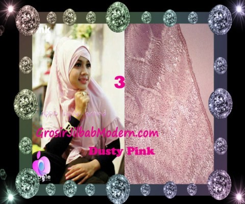 Jilbab Syar'i Exclusive Khadijah by Apple Hijab Brand No 3 Dusty Pink
