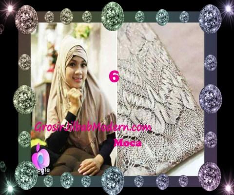 Jilbab Syar'i Exclusive Khadijah by Apple Hijab Brand No 6 Moca