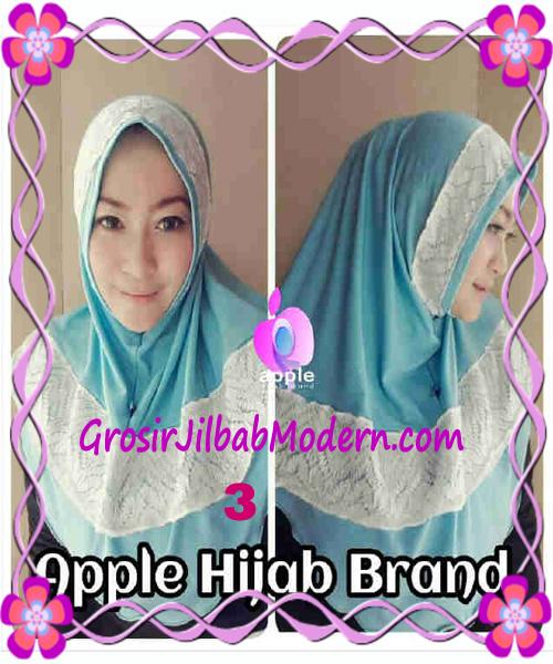 Jilbab Syria Bilqis Seri 2 Modis by Apple Hijab Brand No 3 Biru Muda