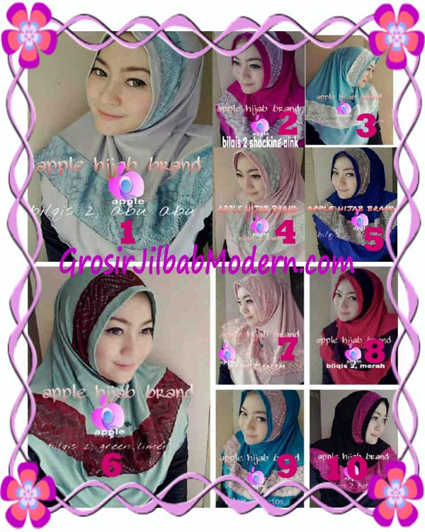 Jilbab Syria Bilqis Seri 2 Modis by Apple Hijab Brand Series
