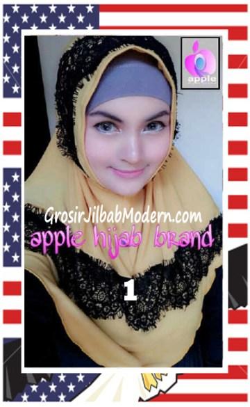 Jilbab Syria Bilqis Stylish dan Syar'i by Apple Hijab Brand No 1 Kuning
