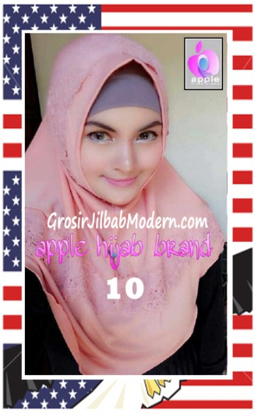 Jilbab Syria Bilqis Stylish dan Syar'i by Apple Hijab Brand No 10 Dusty Salem
