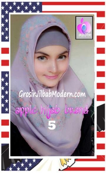 Jilbab Syria Bilqis Stylish dan Syar'i by Apple Hijab Brand No 5 Lavender