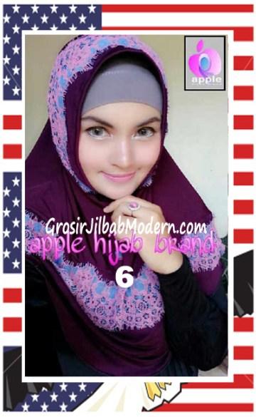 Jilbab Syria Bilqis Stylish dan Syar'i by Apple Hijab Brand No 6