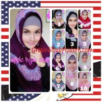 Jilbab Syria Bilqis Stylish dan Syar'i by Apple Hijab Brand Series