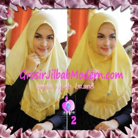 Jilbab Syria Bolak Balik Abstrak Cantik by Apple Hijab Brand No 2 Kuning