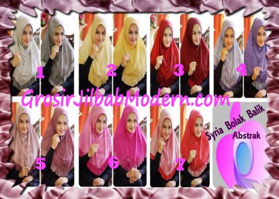 Jilbab Syria Bolak Balik Abstrak Cantik by Apple Hijab Brand Series