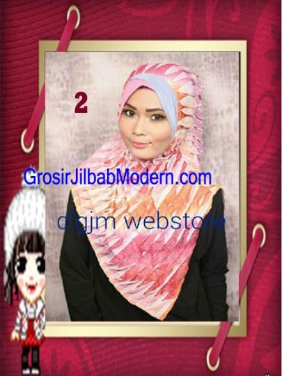 Jilbab Syria Cross Ruffle Ameena No 2