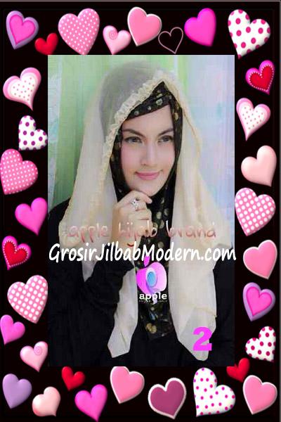 Jilbab Syria Hoodie Aesah Jolie Layer Praktis by Apple Hijab Brand No 2 Cream