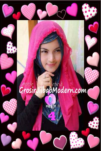 Jilbab Syria Hoodie Aesah Jolie Layer Praktis by Apple Hijab Brand No 4 Fanta