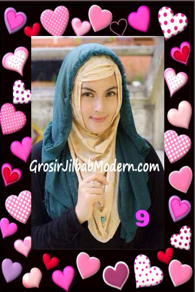 Jilbab Syria Hoodie Aesah Jolie Layer Praktis by Apple Hijab Brand No 9 Hijau Botol