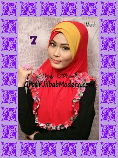 Jilbab Syria Jelita Original by Rizky Ananda No 7 Merah