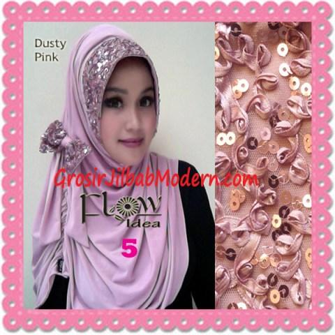 Jilbab Syria Modern Pitaloka Payet Original by Flos Idea No 5 Dusty Pink