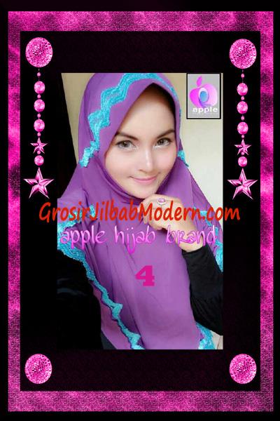 Jilbab Yafee Syar'i Modis by Apple Hijab Brand No 4 Ungu Muda