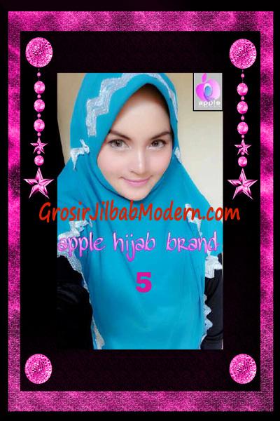 Jilbab Yafee Syar'i Modis by Apple Hijab Brand No 5 Biru Toska
