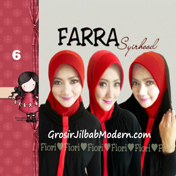 Jilbab Instant Farra Syirhood Modis by Fiori Design No 6 Hitam-Merah
