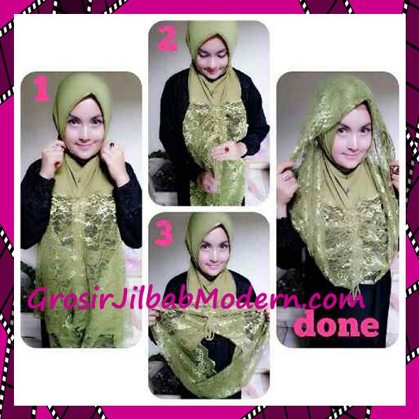 Jilbab Instant Syria Hoodie Layer Maryam by Apple Hijab Brand - Cara Pemakaian
